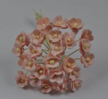 1.3cm PALE PINK DOUBLE-LAYERED Daisy Mulberry Paper Flowers